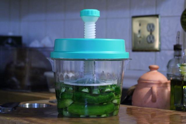 Glass Pickle Press